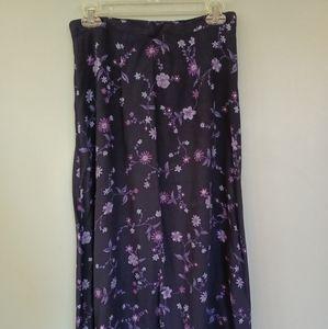 Vintage Studio long navy blue and purple skirt
